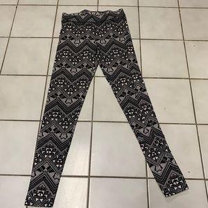 PINK black and white leggings